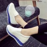 รองเท้าผ้าใบแฟชั่น ทรงมัฟฟิน งานเข้านำ สไตล์เกาหลี สวยเก๋ วัสดุหนัง pu นิ่ม อย่างดี น้ำหนักเบา สวยเก๋ด้วยส้นสีสดใส ส้นสูง 3 cm เสริมภายใน 3 cm ดูโดด เด่น สวมใส่สบาย คล่องตัว สีขาวส้นชมพู ขาวส้นน้ำเงิน ขาวตารางส้นชมพู