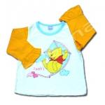 เสื้อ สีขาว-ส้ม-ฟ้า ลาย Pooh กับว่าว 3T