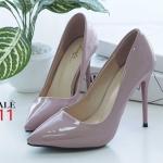 รองเท้าคัทชู ส้นสูง หนังเงาสวยเรียบหรู ทรงสวยเพรียว ส้นสูงประมาณ 5 นิ้ว ใส่ออกงาน สวยโดดเด่น แมทสวยได้ทุกชุด (FH-625)