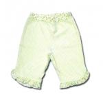 กางเกง สีเขียว ลายดอกไม้ ยี่ห้อ Carter's 12M