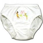 กางเกงในเด็กหญิง สีขาว ลายนางฟ้ากับดอกไม้ไฟ 2T
