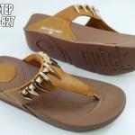 รองเท้าแตะแฟชั่น แต่งอะไหล่สวยเท่ห์เก๋ พื้นซอฟคอมฟอตนิ่มสไตล์ฟิตฟลอบ ใส่สบายมาก แมทสวยได้ทุกชุด (NE6532-827)