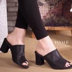 รองเท้าแฟชั่น ส้นสูง แบบสวมสวยเรียบเก๋ หนัง PU นิ่มอย่างดี ทรงสวยเก็บหน้า เท้าเรียวดูดีมีสไตล์ ส้นสูง ประมาณ 2 นิ้ว ใส่สบาย แมทสวยได้ทุกชุด