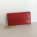 [SOLDOUT]Used - Louisvuitton Portefeuille International Epi leather สีแดงสด dc04