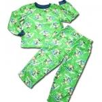 ชุดนอน สีเขียว ลาย Mickey Mouse เล่นสกี 2T