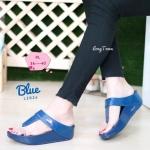 รองเท้าแตะแฟชั่น เพื่อสุขภาพ แบบหนีบ สวยเรียบเก๋ แต่งอะไหล่จรเข้ พื้นซอฟคอมฟอตนิ่มสไตล์ฟิตฟลอบ ใส่สบาย แมทสวยได้ทุกชุด (L2824)