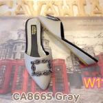 รองเท้าคัทชู เปิดส้น ส้นเตารีด หนังนิ่มอย่างดี แต่งอะไหล่เพชรหรู พื้นบุนิ่ม ทรงสวยเก็บ หน้าเท้า ใส่สบาย แมทสวยได้ทุกชุด (CA8665)
