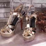 รองเท้าแฟชั่น ส้นสูง สไตล์อีฟแซง รุ่น hot hit ทรงสวย แมทกับชุดไหนก็สวย โดดเด่น ส้นสูง ประมาณ 5 นิ้ว เสริมหน้า 1 นิ้ว