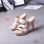 รองเท้าแฟชั่น ส้นสูง แบบสวม แต่งเข็มขัดสวยเก๋ คาดหน้าเฉียงเก็บหน้าเท้า หนังนิ่ม ทรงสวย สูงประมาณ 4 นิ้ว ใส่สบาย แมทสวยได้ทุกชุด (G318317)