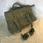 กระเป๋าแฟชั่น สไตล์ Mulberry 12 นิ้ว ทรงสวยคลาสสิค รุ่นแต่งเข็มขัด ด้านหน้าเรียบเก๋ แบบสาวมั่น หนัง PU อย่างดีนิ่มสวย พร้อมสายยาวถอด ได้