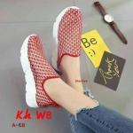 รองเท้าผ้าใบแฟชั่น สวยเก๋ ผ้าตาข่ายอย่างดียืดหยุ่น เสริมส้นประมาณ 1.5 นิ้ว ใส่สบาย แมทสวยได้ทุกชุด (A-68)