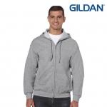 เสื้อฮู้ด Hoodie กันหนาว Gildan แบบซิป สีเทา Sport Grey