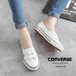 รองเท้าผ้าใบ STYLE CONVERSE เรียบเก๋ ทำจากนิ่มอย่างดี สวมใส่ง่าย ไม่ต้องผูกเชือก ทรงสวย ใส่นิ่มเดินสบาย ลุยไปได้ทุกที ทำความสะอาด ง่าย แมทเก๋ได้ทุกชุด สีแดง น้ำตาล (9987)