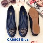 รองเท้าคัทชุู ส้นแบน แต่งอะไหล่สวยหรู ทรงสวย หนังนิ่ม ใส่สบาย แมทสวยได้ทุกชุด (CA8803)