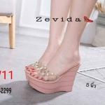 รองเท้าคัทชู ทรง slip on ปักลายเสือสไตล์เคนโซ่สวยเก๋ ส้นแต่งเชือกถัก ทรงสวย หนังนิ่ม ใส่สบาย แมทสวยได้ทุกชุด (H319-1267)