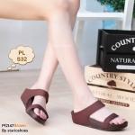 รองเท้าแตะแฟชั่น เพื่อสุขภาพ แบบสวม สวยเก๋ พื้นซอฟคอมฟอตนุ่มสไตล์ฟิตฟลอบ ใส่ สบาย แมทเก๋ได้ทุกวัน (Pf2147)