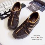 รองเท้าผ้าใบผู้ชาย เพื่อสุขภาพ STYLE SKECHER น้ำหนักเบา พื้นยางอย่างดี ใส่นิ่ม เดินนุ่มสบาย ใส่ชิวๆ เท่ห์สุดๆ สีดำ น้ำตาล เทา (BND104)