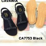 รองเท้าแตะแฟชั่น สวยหรู แบบสวม รัดส้น แต่งคลิสตัลหรูด้านหน้าดูดี พื้นบุนุ่ม รัดส้นยาง ยืดนิ่มใส่สบาย พื้นยางกันลื่น นิ่มยืดหยุ่นอย่างดี แมทสวยได้ทุกชุด (CA7753)