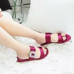 รองเท้าแตะแฟชั่น แบบสวม แต่งอะไหล่คริสตัลสวยหรู สไตล์ roger หนังนิ่ม ทรงสวย ใส่สบาย แมทสวยได้ทุกชุด