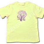 เสื้อ สีเหลือง ลายต้นไม้ ยี่ห้อ Falls Creek 4T