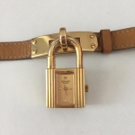 [SOLDOUT]Hermes Kelly Watch Togo Tan Stamp S in circle