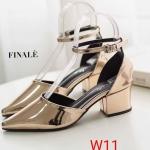 รองเท้าคัทชู ส้นเตี้ย รัดข้อ หนังเงาสวยเรียบหรู ทรงสวยหนังนิ่ม ใส่สบาย ส้นสูงประมาณ 2.5 นิ้ว แมทสวยได้ทุกชุด