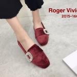 รองเท้าคัทชู ส้นแบน หนังกำมะหยี่แต่งอะไหล่เพชรสไตล์ roger สวยเก๋ ใส่สบาย แมทสวยได้ทุกชุด (2015-166)