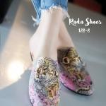 รองเท้าคัทชู เปิดส้น สไตล์ Gucci Princetown Gucci Bengal slipper ชนช็อป เซเลป นอกใส่เพียบ ลายเสือดาว งานเนี๊ยบดี เลอค่าสมราคา (128-8)