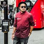 พรีออเดอร์ เสื้อเชิ้ต แขนยาว XL - 6XL อกใหญ่สุด 55.90 นิ้ว แฟชั่นเกาหลีสำหรับผู้ชายไซส์ใหญ่ แขนสั้น เก๋ เท่ห์ - Preorder Large Size Men Korean Hitz Short-sleeved T-Shirt