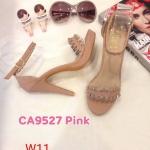 รองเท้าแฟชั่น ส้นสูง แบบสวม รัดข้อ แต่งอะไหล่สวยเก๋ ทรงสวย ส้นสูงประมาณ 4 นิ้ว แมทสวยได้ทุกชุด (CA9527)