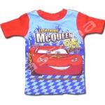 เสื้อ สีฟ้า-แดง ลาย Cars McQueen 3T