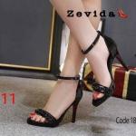 รองเท้าแฟชั่น ส้นสูง รัดข้อ แต่งโซ่สวยเก๋ ทรงสวย หนังนิ่ม ส้นสูงประมาณ 4 นิ้ว ใส่สบาย แมทสวยได้ทุกชุด (18-1329)