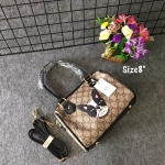 กระเป๋าแฟชั่น สไตล์กุชชี่ 8 นิ้ว ทรงหมอนแต่งลายสวยน่ารัก พร้อมสะพายข้างถอดได้ สะพายสวยได้ทุกชุด