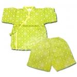 ชุดจิมเบอิ สีเขียว ลายผ้าทอ S95
