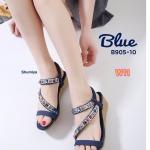 รองเท้าแฟชั่น ส้นเตารีด แบบสวม รัดส้น แต่งอะไหล่หลากสีสวยหรูน่ารัก พื้นนิ่ม รัดส้นยาง ยืดนิ่ม กระชับเท้า ใส่ง่าย ใส่สบาย แมทสวยได้ทุกชุด (B905-10)