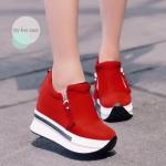 รองเท้าผ้าใบแฟชั่น เสริมพื้น แพลตฟอร์ม สไตล์เกาหลีสวยเก๋มาก มีซิปด้าน ข้าง 2 ข้าง ส้นสูง 2 นิ้ว เสริมพื้นสูงภายใน 2 นิ้ว วัสดุทำจากผ้ามีความยืดหยุ่น คุณภาพดี พื้นรองเท้ากันลื่น น้ำหนักเบา สวมใส่สบาย ทำความสะอาดง่าย สาวๆ ได้ใส่คู่นี้เก๋ไม่เบา ไอเท็มใหม่ แม