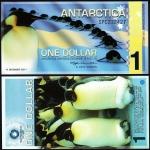 ธนบัตร แอนตาร์ติกา (ANTARCTICA 1 DOLLARS 2011 UNC COMMEMORATIVE POLYMER)