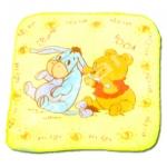 ผ้าเช็ดหน้า สีเหลือง ลาย Pooh & Eeyore