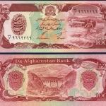 ธนบัตรประเทศ อัฟกานิสถาน ชนิดราคา 100 AFGHANIS รุ่นปี พ.ศ.2534 (ค.ศ.1991)