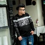 พรีออเดอร์ เสื้อกันหนาว แฟชั่นเกาหลีสำหรับผู้ชายไซส์ใหญ่ อกใหญ่สุด 55.90 นิ้ว แขนยาว เก๋ เท่ห์ - Preorder Large Size Men Korean Hitz Long-sleeved Jacket