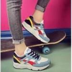 รองเท้าผ้าใบแฟชั่น แต่งลายตัดสีสวยเท่สไตล์เกาหลี วัสดุอย่างดี ทรงสวย ใส่สบาย ใส่เที่ยว ออกกำลังกาย แมทสวยเท่ห์ได้ทุกชุด