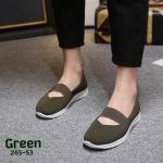 รองเท้าคัทชู ส้นเตี้ย คาดยางยืดนิ่มกระชับเท้า สวยเรียบเก๋ พื้นนิ่ม ทรงสวย ใส่สบาย แมทสวยได้ทุกชุด (265-53)