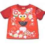 เสื้อ สีแดง ลาย Sesame Street กับดอกไม้ 2T