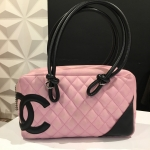 CHANEL cambon pink bag