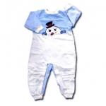 ชุดบอดี้สูท สีฟ้า ลายตุ๊กตาหิมะ ยี่ห้อ Honors Baby 24M