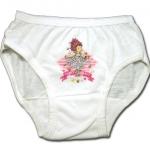 กางเกงในเด็กหญิง สีขาว ลาย Fancy Nancy กับผีเสื้อ 2T