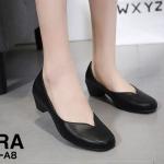 รองเท้าคัทชู ส้นเตี้ย หนังนิ่ม ทรงหัวตัด หน้า V สวยเรียบเก๋ หนังนิ่ม ทรงสวย ส้นสูงประมาณ 2 นิ้ว ใส่สบาย แมทสวยได้ทุกชุด (0290-A8)
