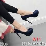 รองเท้าคัทชู ส้นสูง หัวมน เรียบหรู ทรงสวย หนังนิ่ม ส้นสูงประมาณ 5 นิ้ว เสริมหน้า 1 นิ้ว ใส่สบาย ใส่ออกงานได้ แมทสวยได้ทุกชุด (K9319)