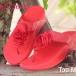 รองเท้าแตะแฟชั่น สวยเก๋ แบบหนีบ แต่งดอกไม้ พื้นซอฟคอมฟอตนิ่มสไตล์ฟิตฟลอบ ใส่สบายมาก แมทสวยได้ทุกชุด