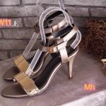รองเท้าแฟชั่น ส้นสูง รัดข้อ แบบสวม แต่งอะไหล่ทองด้านหน้าสวยเก๋ ส้นสูงประมาณ 3 นิ้ว ใส่สบาย แมทสวยได้ทุกชุด